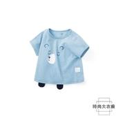 嬰兒t恤上衣男童短袖純棉體恤衫【時尚大衣櫥】
