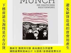 二手書博民逛書店Edvard罕見Munch 蒙克版畫 德語Y238343