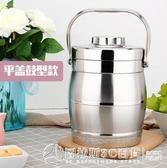 不銹鋼真空飯桶三層超長保溫提鍋提桶成人保溫桶學生提鍋飯盒  圖拉斯3C百貨