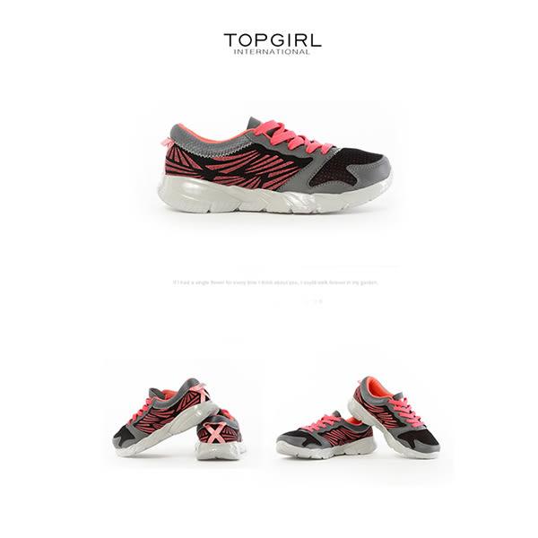 TOP GIRL 活力運動慢跑鞋-黑