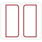 《享亮商城》1020 索引紅框 24*27mm  鶴屋