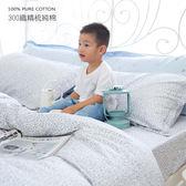 6X7尺 特大雙人床包冬夏兩用被套四件組【  DR907 Gloria  】  100% 300織精梳純棉 OLIVIA