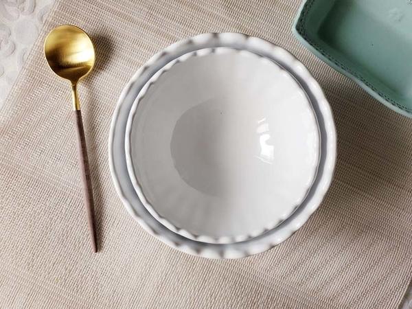 義大利VBC casa-純白條紋系列14cm大碗-四入組