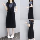 兩件套洋裝2020夏裝韓版中長款寬鬆顯瘦...