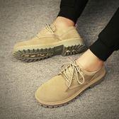 秋季男士馬丁靴男高筒男鞋雪地中筒靴子工裝鞋沙漠英倫短靴軍靴潮   花間公主