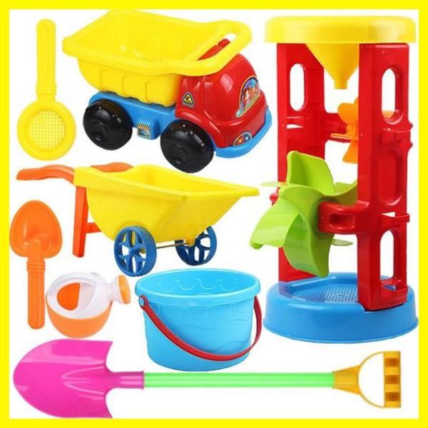 兒童節禮物兒童沙灘玩具車套裝大號寶寶玩沙子挖沙漏鏟子工具決明子嬰兒玩具
