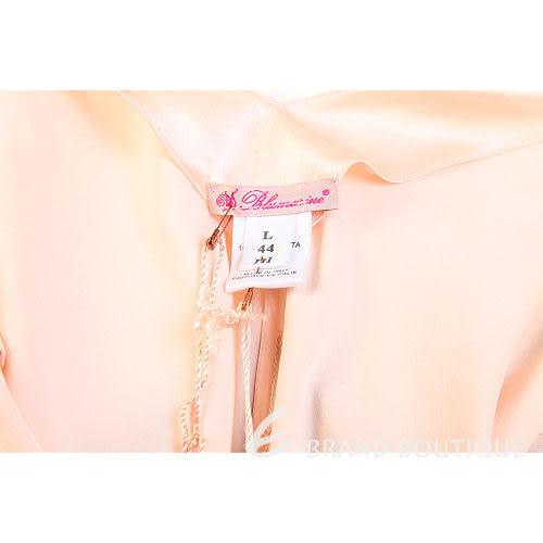 Blumarine 香檳粉色緞面繡花綁帶洋裝 0510492-05