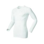 【速捷戶外】《ODLO》152022 機能銀纖維長效保暖排汗內衣 - 男圓領 白