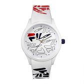 【FILA 斐樂】塗鴉風LOGO造型腕錶-台灣限定款/38-129-209/台灣總代理公司貨享兩年保固