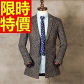 毛呢大衣-羊毛經典款短版保暖男風衣外套62n56[巴黎精品]