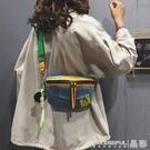 牛仔包 網紅上新小包包女包流行時尚寬帶側背包質感牛仔布斜背包 晶彩 99免運