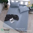 【BEST寢飾】天絲床包三件組 特大6x7尺 一抹心念-藍 100%頂級天絲 萊賽爾 附正天絲吊牌 床單