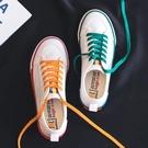 彩虹帆布鞋女2021新款鴛鴦小白鞋韓版百搭泫雅風板鞋夏季學生潮鞋 寶貝計畫 618狂歡