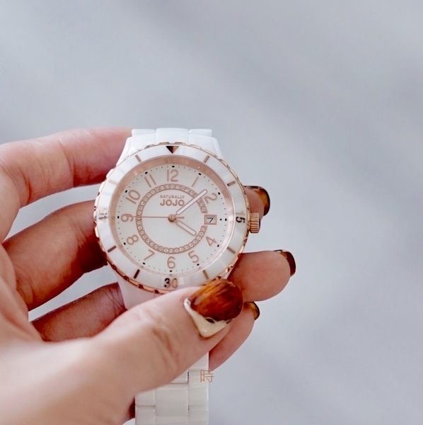 NATURALLY JOJO 經典閃耀晶鑽 陶瓷錶 JO96974-80R 現貨