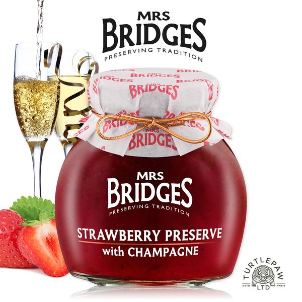 【MRS. BRIDGES】英橋夫人草莓香檳果醬(大)340g 交換禮物首選