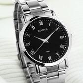 父親節 復古懷舊老人手錶中老年人石英手錶大數字鋼帶男錶女錶石英中年錶 芭蕾朵朵