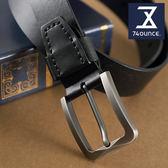 74盎司 皮帶 縫線皮革配飾真皮皮帶[Z-276]