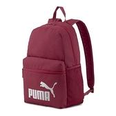 PUMA 紫紅色休閒後背包-NO.07548748