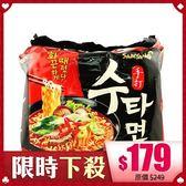 韓國 Samyang 辣香菇牛肉風味手打麵(袋裝) 120gx5入【BG Shop】泡麵