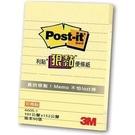 《享亮商城》660S-1 黃 利貼 狠黏橫格便條紙  3M