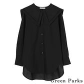 「Autumn」可拆式水手領造型襯衫上衣 - Green Parks