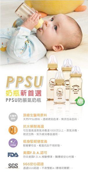 Piyopiyo黃色小鴨 媽咪乳感PPSU標準口徑葫蘆奶瓶320ml  830521