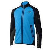 NEW BALANCE 男裝 外套 反光 拉鍊口袋 穿孔 透氣 藍 黑 【運動世界】 MJ71026ELB