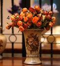 歐式整體花藝 陶瓷花瓶送5束山茶花苞 餐...