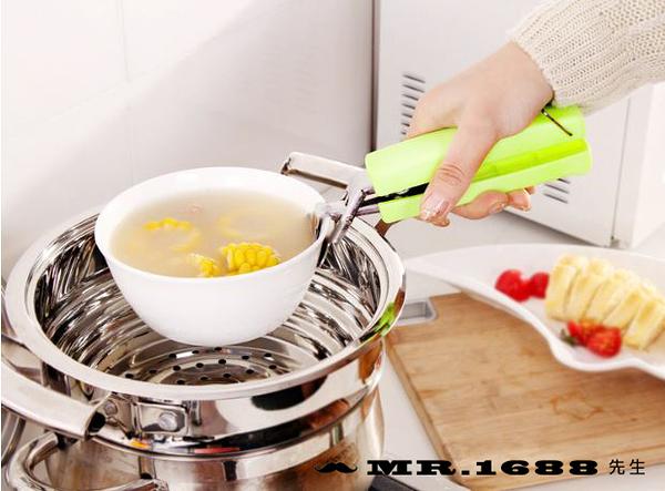 創意實用不銹鋼取碗夾 多功能防燙夾盤子提碗器 盆碗夾 雙柄夾【Mr.1688先生】