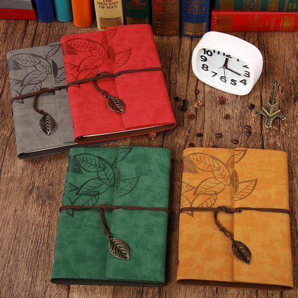 雙十二狂歡購活頁筆記本文具本子復古小清新創意旅行手帳本A5加厚記事本日記本