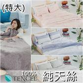 『多款任選』奧地利100%TENCEL涼感純天絲6x7尺雙人特大床包枕套三件組(不含被套)床單 床套 床巾