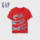 Gap 男幼童 棉質舒適圓領短袖T恤 544969-珊瑚紅