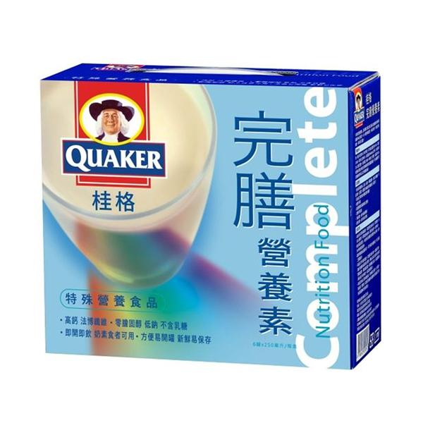 QUAKER 桂格 完膳營養素(香草口味) 6入禮盒