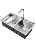 水槽雙槽 304不銹鋼廚房洗菜盆手工洗碗池洗菜池水池洗碗槽  ATF  極有家