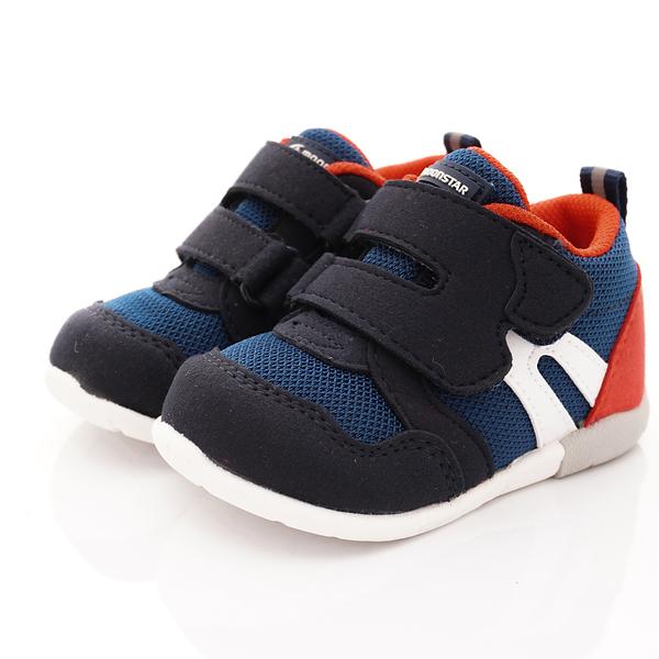 日本Moonstar機能童鞋 HI系列3E學步款 1115深藍(寶寶段)