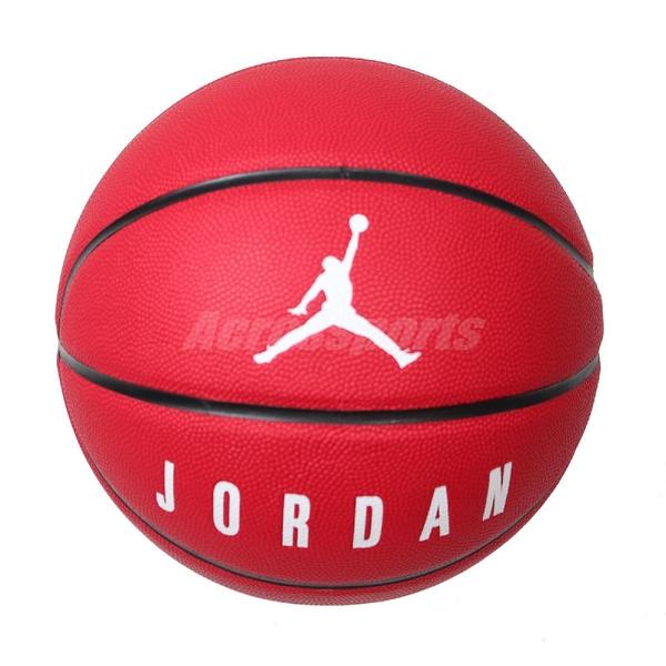Nike 籃球 Jordan Playground 8P No.7 紅 白 黑 喬丹 標準7號球 室外 【ACS】 J000264562-507