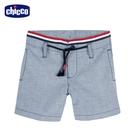 chicco- 酷狗-腰頭織帶直紋短褲