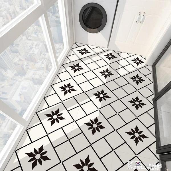 衛生間防水地貼防滑浴室地板貼自粘廚房防油防潮墻面裝飾瓷磚貼紙