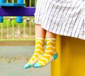 襪子   清新波紋中筒襪  【FSW048】-收納女王