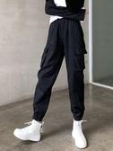 工裝褲 嘻哈cargo工裝褲女夏秋季寬鬆bf帥氣高腰顯瘦ins潮休閒收腳束腳褲