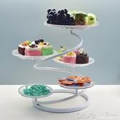 創意多層點心架下午茶糕點托盤歐式客廳水果盤家用結婚糖果蛋糕架 【全館免運】