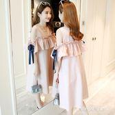 孕婦裝裝新款韓版裝洋裝潮媽寬鬆中長款上衣裙子  朵拉朵衣櫥