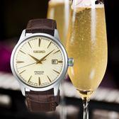 【台南 時代鐘錶 SEIKO】精工 Presage 調酒師系列機械錶 SRPC99J1@4R35-01T0Y 皮帶 香檳金 40mm