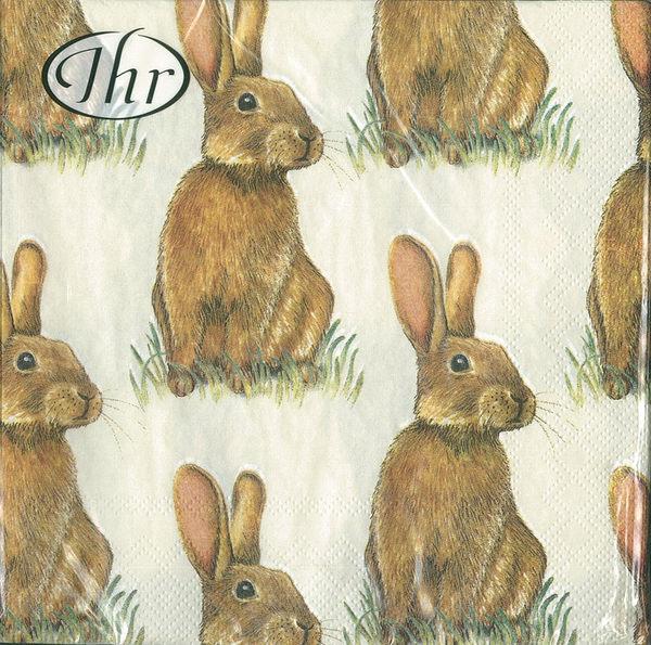 新貨到!草原兔-德國 IHR 餐巾紙(33x33cm)