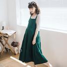 愛戀小媽咪 正韓 孕婦裝 氣質顯瘦大口袋蛋糕裙襬吊帶洋裝