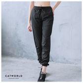 Catworld 側網紗反光條束口運動褲【12001618】‧S/M/L/XL