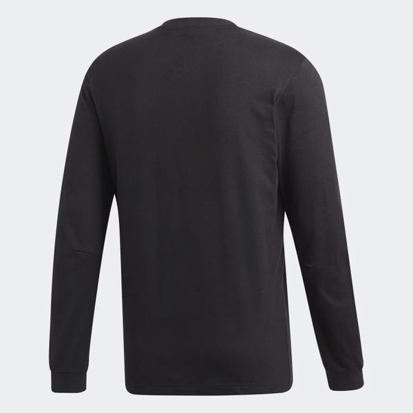 Adidas Must Haves Badge 男裝 長袖 休閒 大學T 棉質 黑 【運動世界】DT9940