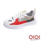 休閒鞋 青春熱力撞色綁帶休閒鞋(紅) *0101shoes【18-M36r】【現+預】