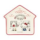 【震撼精品百貨】Hello Kitty_凱蒂貓-三麗鷗~ 屋型盤子-紅*12163
