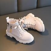 兒童靴子 女童馬丁靴2021年新款秋冬季加絨短靴女孩單靴兒童二棉鞋皮靴子冬 嬡孕哺